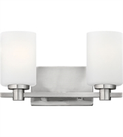 "Picture for category Bathroom Vanity 2 Light Fixtures With Brushed Nickel Finish Steel Material Medium 13"" 200 Watts"
