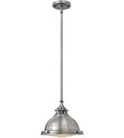 Picture for category Mini Pendants 1 Light With Polished Antique Nickel Steel Drum Medium Base 12 inch 100 Watts