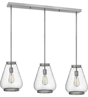 "Picture for category Pendants 3 Light Fixtures With Brushed Nickel Finish Steel Material Medium 40"" 300 Watts"