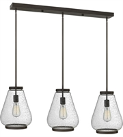 "Picture for category Pendants 3 Light Fixtures With Oil Rubbed Bronze Finish Steel Material Medium 40"" 300 Watts"