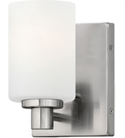 Picture for category Bathroom Vanity 1 Light With Brushed Nickel Etched Opal Medium Base 5 inch 100 Watts
