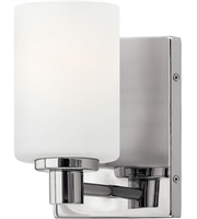 Picture for category Bathroom Vanity 1 Light With Chrome Etched Opal Steel Drum Medium Base 5 inch 100 Watts