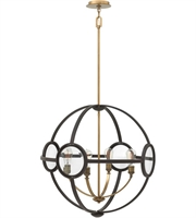 "Picture for category Buckeye Bronze Tone Finish Chandeliers 26"" Wide Steel Material Medium 4 Light Fixture"