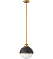 "Picture for category Pendants 2 Light Fixtures With Aged Zinc Finish Steel Material Medium 14"" 200 Watts"