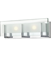 "Picture for category Bathroom Vanity 2 Light Fixtures With Chrome Finish Steel Material LCP-60 18"" 28 Watts"