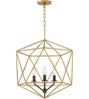 Picture for category Pendant 3 Light With Deluxe Gold Finish Steel Candelabra Base 20 inch 180 Watts