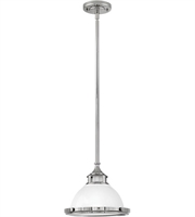 Picture for category Pendants 1 Light With Polished White Finish Steel Drum Medium Base 12 inch 100 Watts