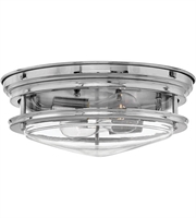 "Picture for category Chrome Tone Finish Flush Mounts 13"" Wide Steel Material Medium Type 2 Light Fixture"