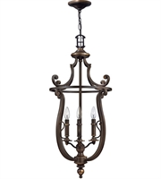"Picture for category Olde Bronze Tone Finish Pendants 18"" Wide Metal Material Candelabra 4 Light Fixture"