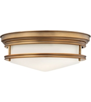 "Picture for category Brushed Bronze Tone Finished Flush Mounts 14"" Wide Steel Medium 3 Light Fixture"