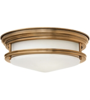 "Picture for category Brushed Bronze Tone Finished Flush Mounts 12"" Wide Steel Medium 2 Light Fixture"