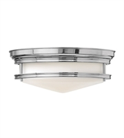"Picture for category Chrome Tone Finished Flush Mounts 14"" Wide Steel Material Flush 2 Light Fixture"
