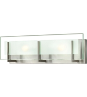 "Picture for category Bathroom Vanity 2 Light Fixtures With Brushed Nickel Finish Steel Material G9 18"" 120 Watts"