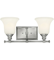 "Picture for category Bathroom Vanity 2 Light Fixtures With Chrome Finish Steel Material Medium 17"" 200 Watts"