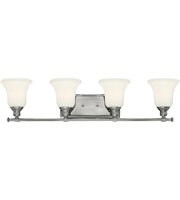 "Picture for category Bathroom Vanity 4 Light Fixtures With Chrome Finish Steel Material Medium 33"" 400 Watts"