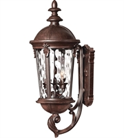 "Picture for category Wall Sconces 3 Light Fixtures With Rier Rock Finish Cast Aluminum Material Candelabra 10"" 120 Watts"