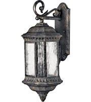 "Picture for category Wall Sconces 3 Light Fixtures With Black Granite Finish Cast Aluminum Material Candelabra 9"" 120 Watts"