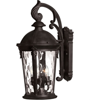 "Picture for category Wall Sconces 3 Light Fixtures With Black Finish Cast Aluminum Material Candelabra 10"" 120 Watts"
