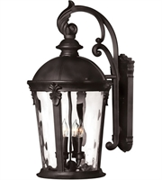 "Picture for category Wall Sconces 4 Light Fixtures With Black Finish Aluminum Material Candelabra 13"" 160 Watts"