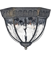 "Picture for category Outdoor Wall Sconces 4 Light Fixtures With Black Granite Finish Cast Aluminum Material Candelabra 12"" 160 Watts"