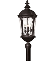 "Picture for category Outdoor Post 4 Light Fixtures With Black Finish Aluminum Material Candelabra 13"" 160 Watts"