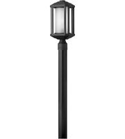 Picture for category Outdoor Post 1 Light With Black Ribbed Etched Cylinder Cast Aluminum Medium Base 17 inch 100 Watts