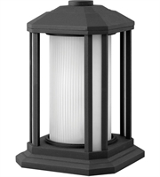 Picture for category Outdoor Post 1 Light With Black Ribbed Etched Cylinder Cast Aluminum Medium Base 13 inch 100 Watts