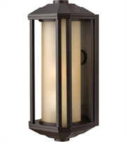 "Picture for category Wall Sconces 1 Light Fixtures With Bronze Finish Cast Aluminum Material Medium 6"" 100 Watts"