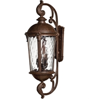 "Picture for category Wall Sconces 6 Light Fixtures With Rier Rock Finish Cast Aluminum Material Candelabra 14"" 240 Watts"