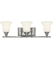 Picture for category Bathroom Vanity 3 Light With Chrome Finish Steel Medium Base Bulb 26 inch 300 W