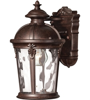 "Picture for category Wall Sconces 1 Light Fixtures With Rier Rock Finish Cast Aluminum Material Medium 7"" 75 Watts"
