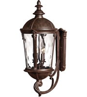 "Picture for category Wall Sconces 4 Light Fixtures With Rier Rock Finish Cast Aluminum Material Candelabra 13"" 160 Watts"