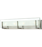 "Picture for category Bathroom Vanity 4 Light Fixtures With Brushed Nickel Finish Steel Material G9 26"" 240 Watts"