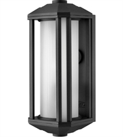 "Picture for category Wall Sconces 1 Light Fixtures With Black Finish Cast Aluminum Material Medium 6"" 100 Watts"