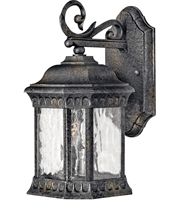 "Picture for category Wall Sconces 2 Light Fixtures With Black Granite Finish Cast Aluminum Material Candelabra Bulb 7"" 80 Watts"