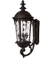 "Picture for category Wall Sconces 3 Light Fixtures With Black Finish Aluminum Material Candelabra 10"" 120 Watts"
