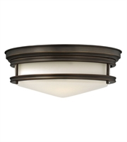 "Picture for category Oil Rubbed Bronze Tone Finish Flush Mounts 14"" Wide Steel Flush 2 Light Fixture"