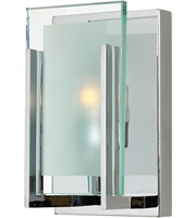 Picture for category Bathroom Vanity 1 Light With Chrome Clear Beveled Inside-Etched G9 5 inch 60 Watts