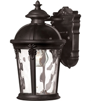 "Picture for category Wall Sconces 1 Light Fixtures With Black Finish Aluminum Material Medium Bulb 7"" 75 Watts"