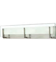 "Picture for category Bathroom Vanity 3 Light Fixtures With Brushed Nickel Finish Steel Material LCP-60 26"" 84 Watts"
