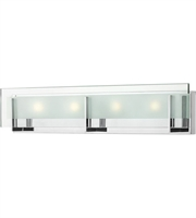 "Picture for category Bathroom Vanity 3 Light Fixtures With Chrome Finish Steel Material LCP-60 26"" 84 Watts"