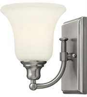 Picture for category Bathroom Vanity 1 Light With Brushed Nickel Etched Opal Medium Base 6 inch 100 Watts