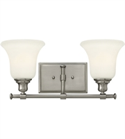 "Picture for category Bathroom Vanity 2 Light Fixtures With Brushed Nickel Finish Steel Material Medium 17"" 200 Watts"