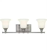 Picture for category Bathroom Vanity 3 Light With Brushed Nickel Steel Medium Base 26 inch 300 Watts