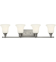 "Picture for category Bathroom Vanity 4 Light Fixtures With Brushed Nickel Finish Steel Material Medium 33"" 400 Watts"