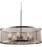 Picture for category Trans Globe Lighting 10229 BN Pendants Brushed Nickel Metal Mesh