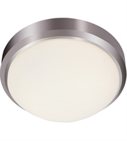 Picture for category Trans Globe Lighting LED-13881 BN Flush Mounts Brushed Nickel Metal Bliss