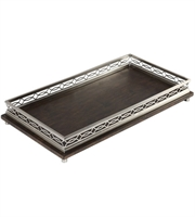 Picture for category Uttermost 18834 Decor Brushed Nickel and Warm Chocolate Brown Metal Rubber Wood Gualtiero