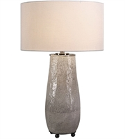 Picture for category Uttermost 27564-1 Table Lamps Aged Gray Glaze and Black Nickel Ceramic Iron Balkana