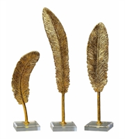Picture for category World of Decor RL-127838 Decor Metallic Gold Polyresin Feathers